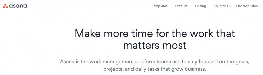Asana screenshot - software outsourcing project management