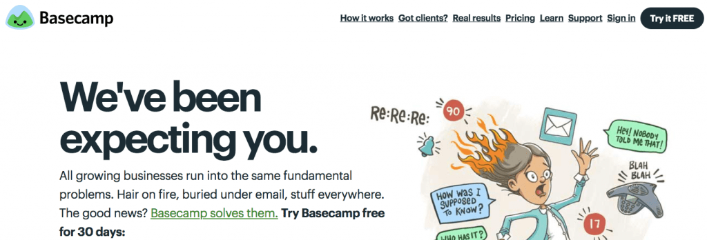 Basecamp screenshot