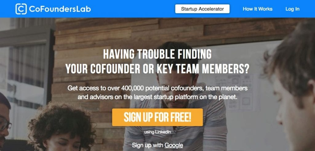 CoFoundersLab screenshot - find a technical cofounder