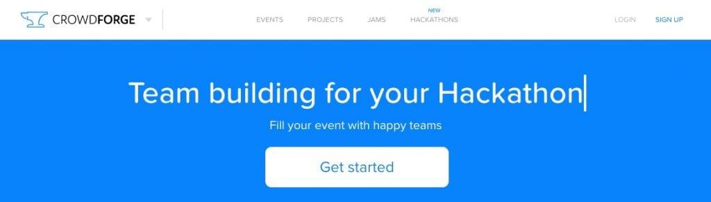 CrowdForge screenshot - find a technical cofounder