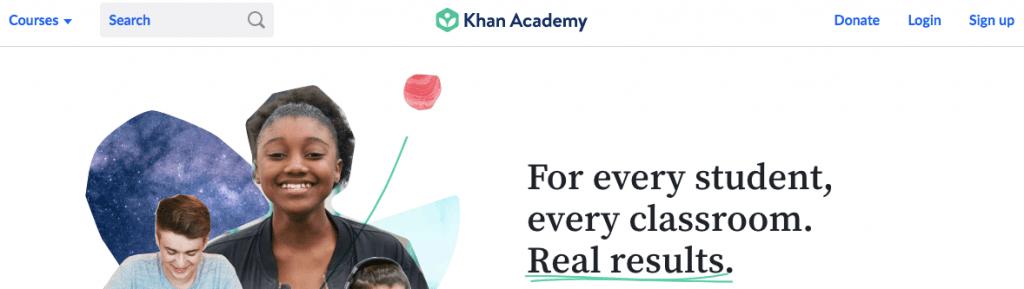 Khan Academy screenshot