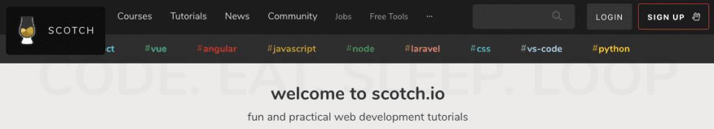 Scotch.io screenshot