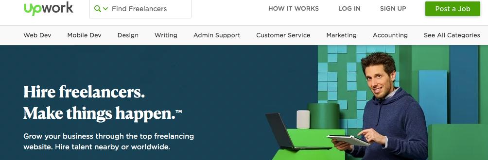 Upwork screenshot - hire freelancers