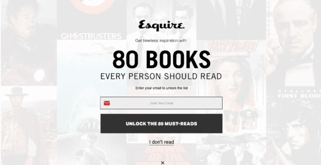 Esquire poor UI example
