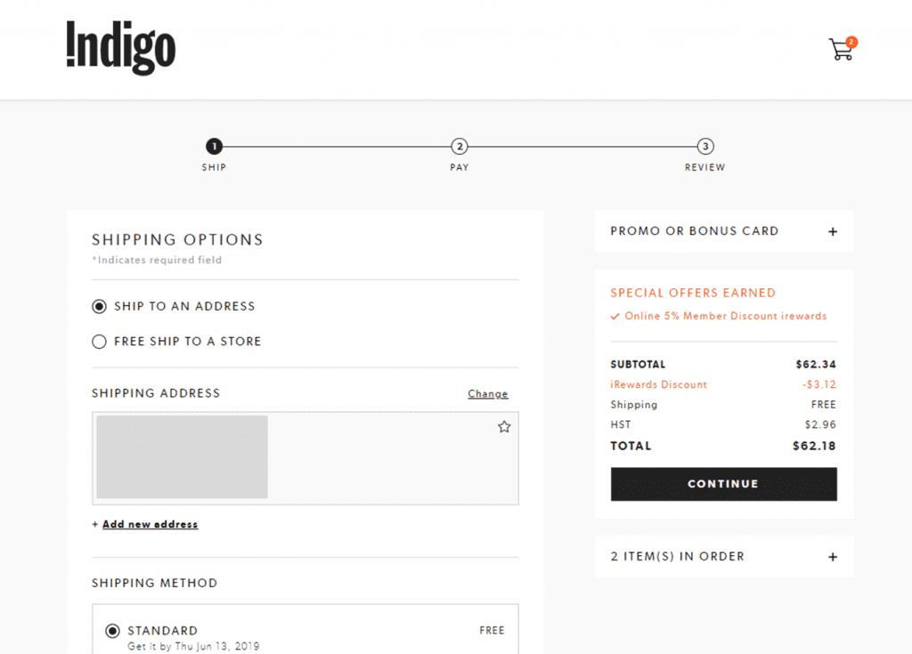 Indigo - example of good user interface design