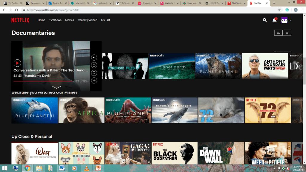 Netflix poor UX example