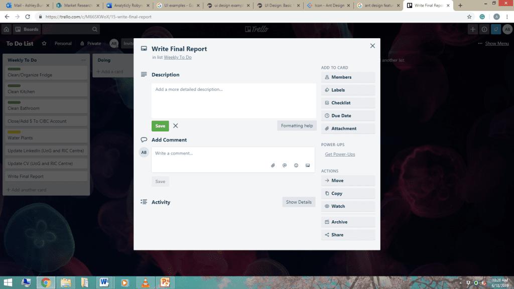 Trello UI design example