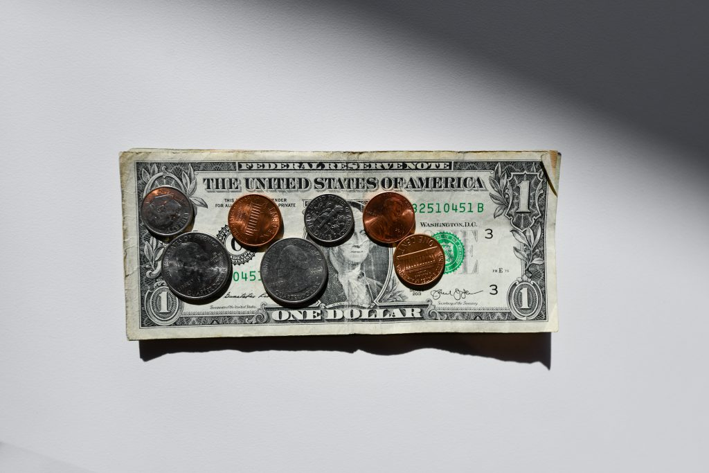 american money in bills and coins